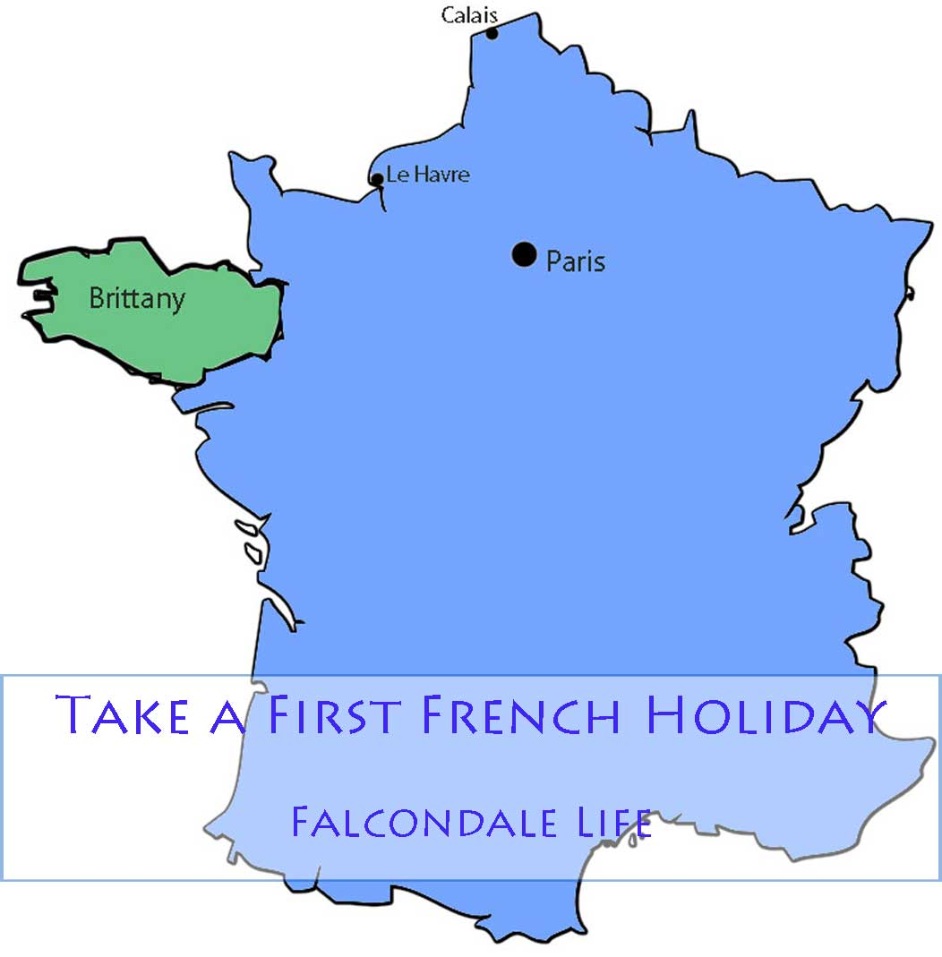 Outline map of France showing Brittany