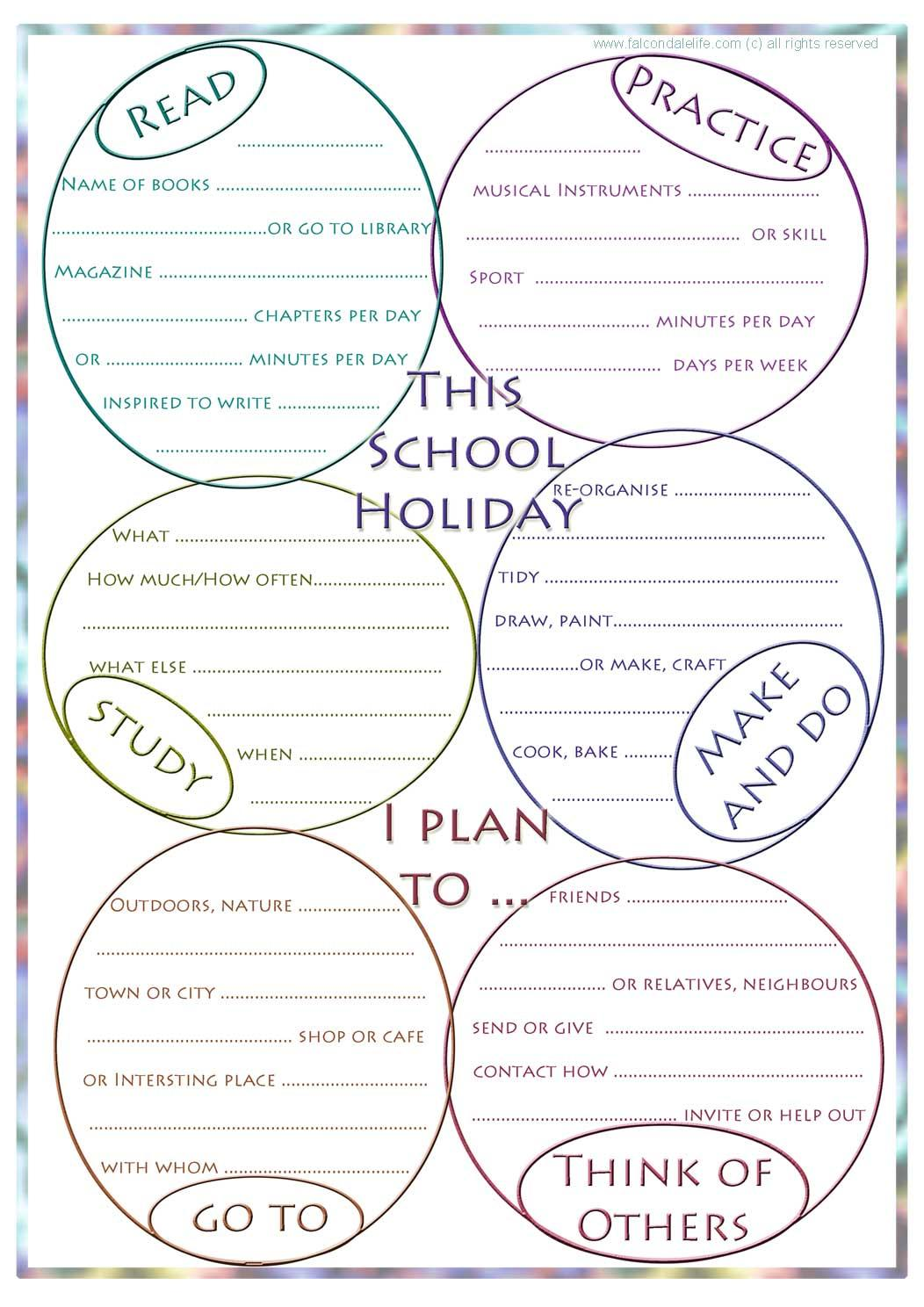 school holiday planner free printable from http://falcondalelife.com