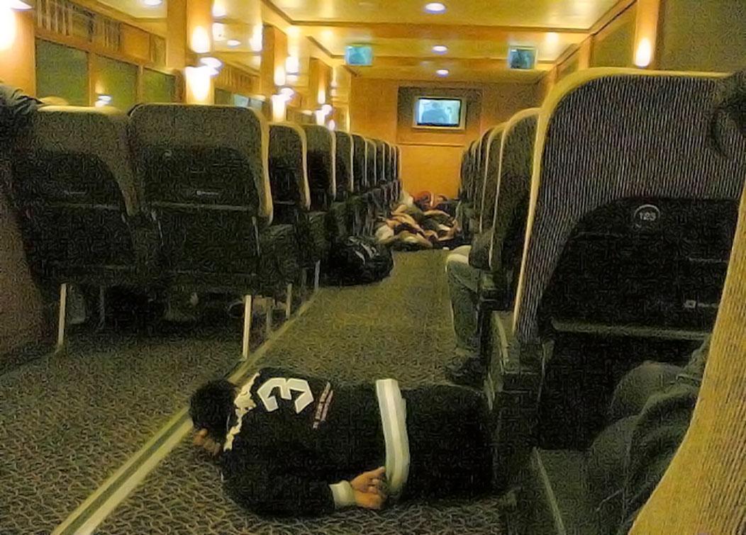 bad nights sleep on ferry