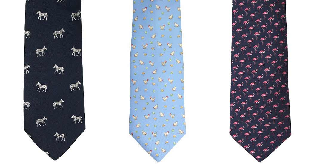 Animal print ties from Elegant Extras gift idea