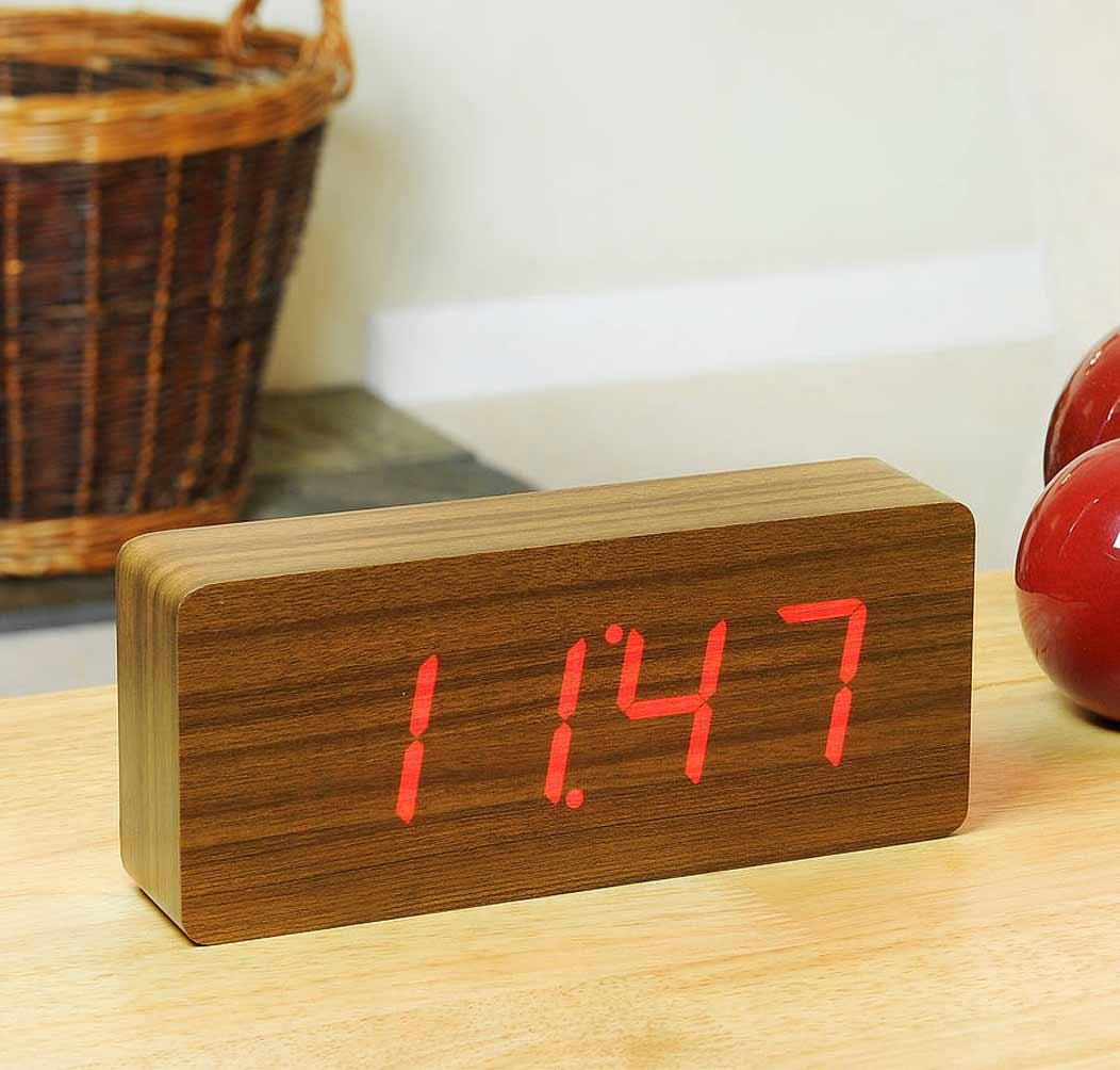 Teak Slab Click Clock from notonthehighstreet gift idea