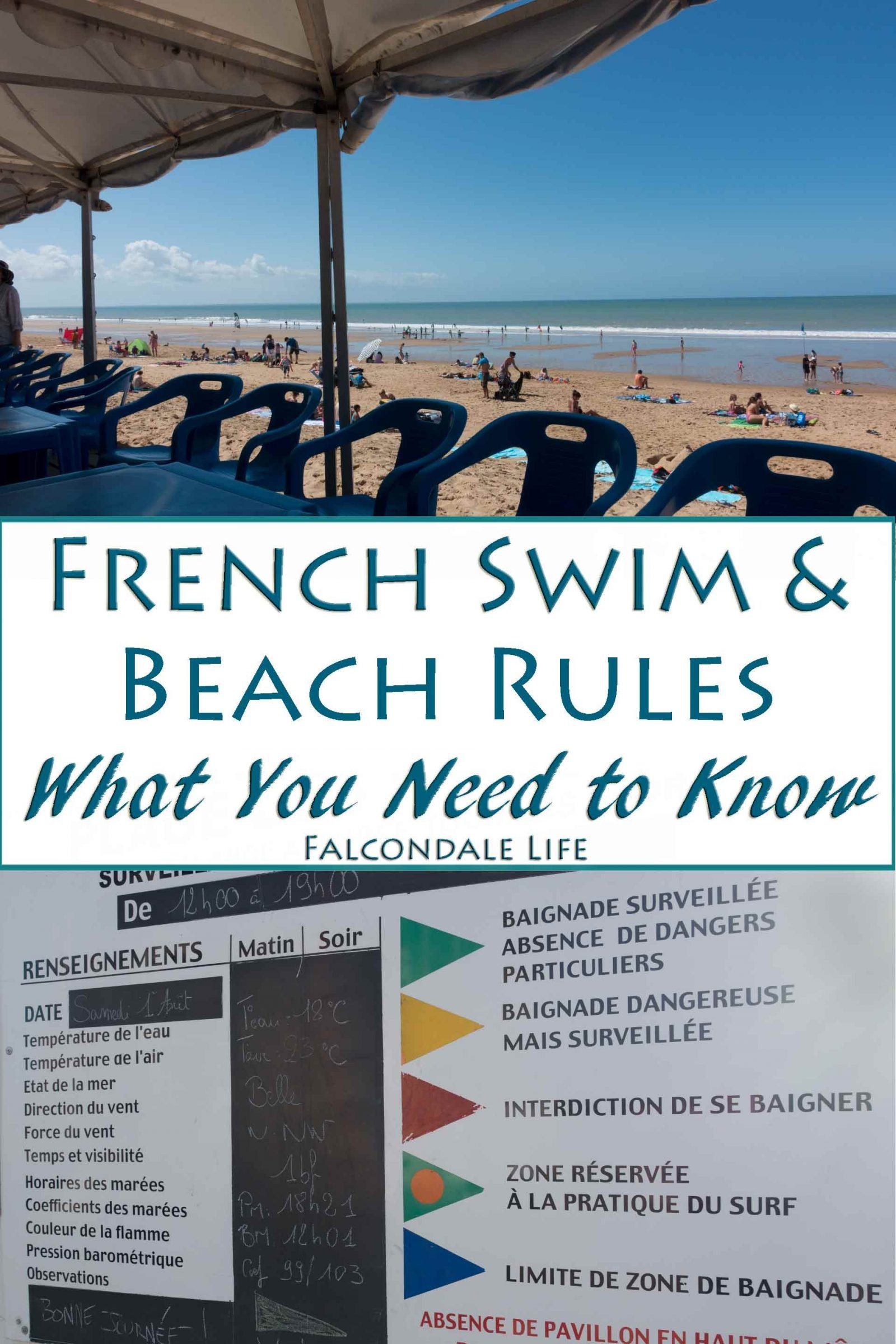French Swim and Beach Rules - what you might need to know on Falcondale Life blog. Some rules may surprise you but in France there is a good lifeguard service. Laws are set both nationally and locally. At swimming pools there are commonly some rules about swimwear and suncream. Read more on the blog.