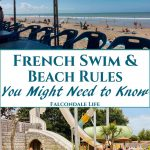 Do men have to wear speedos to swim in France? Can we light a barbecue on the beach or walk a dog? Find out - French Swim and Beach Rules - what you might need to know on Falcondale Life blog. Some rules may surprise you but in France there is a good lifeguard service. At swimming pools there are commonly some rules about swimwear and suncream. Image description: Beach and waterpark.