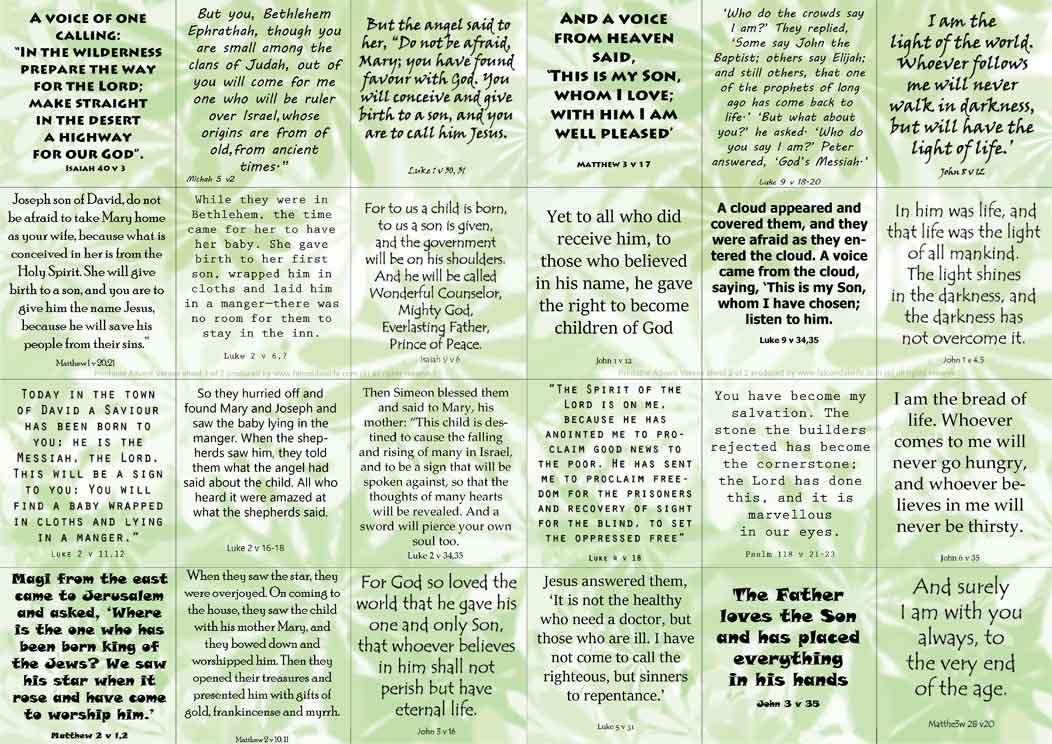 24 Bible verses for Advent on FalcondaleLife.com blog