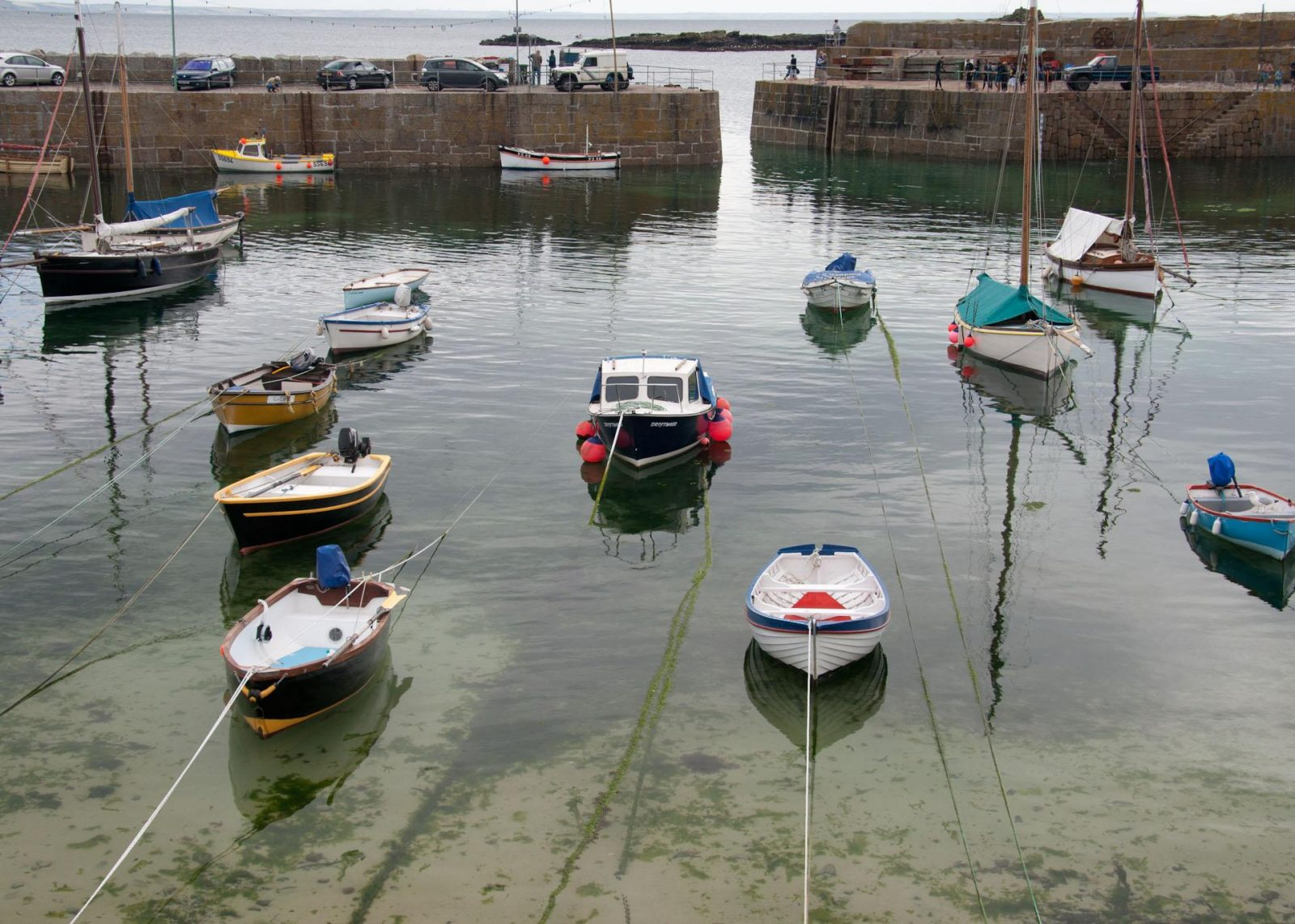 The harbour at Mousehole, Cornwall on Falcondale Life blog.