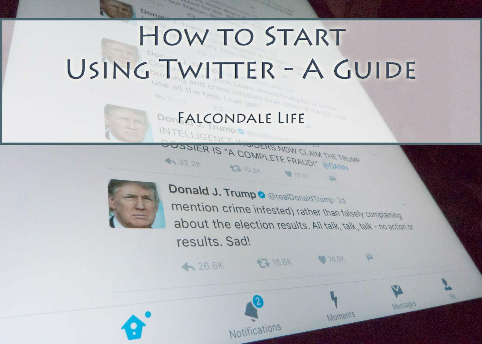 How to Start Using Twitter - A Guide on Falcondale Life blog