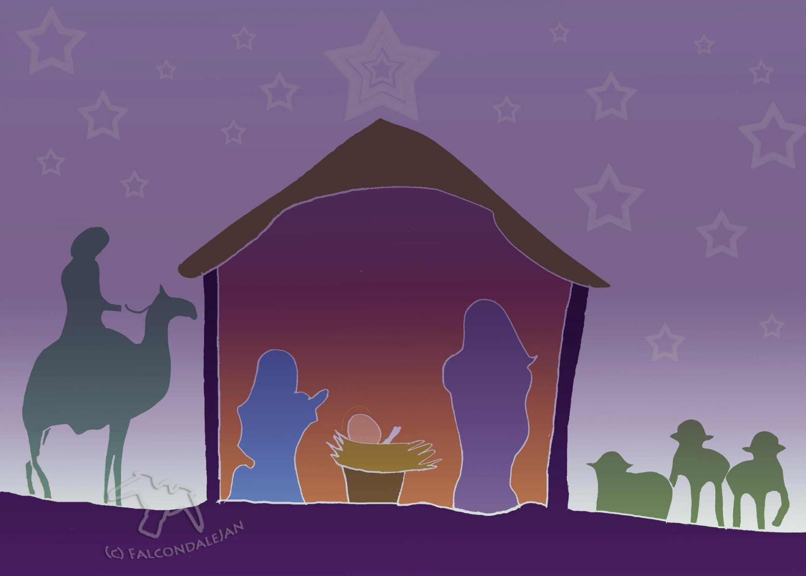 The Nativity on Falcondale Life blog - a vector image by the blog author