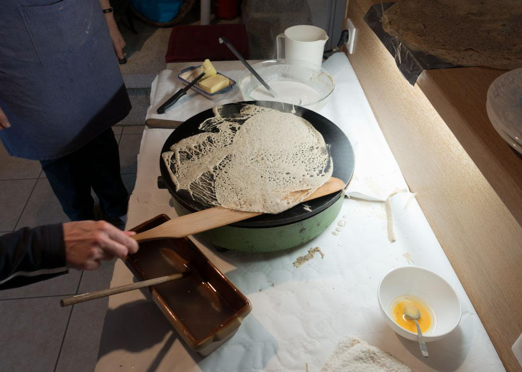 How Traditional Breton Galletes and Crepes are Made on Falcondale Life blog. Buckwheat flour and sea salt for Galettes and plain flour with added sugar for the crepes. See the blog for a recipe.