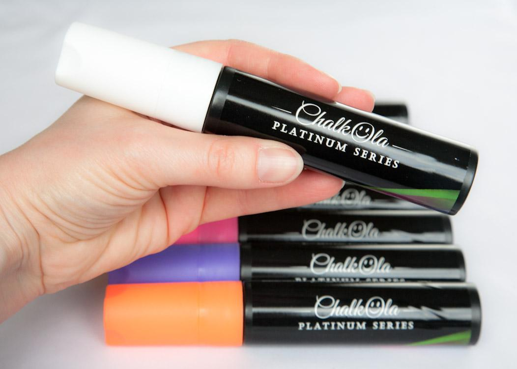 Chalkola Marker Pens, review and giveaway with discount code on Falcondale Life blog. Non-toxic wipe-off pens for smooth, non-porous surfaces like windows, chalkboards or even the fridge.