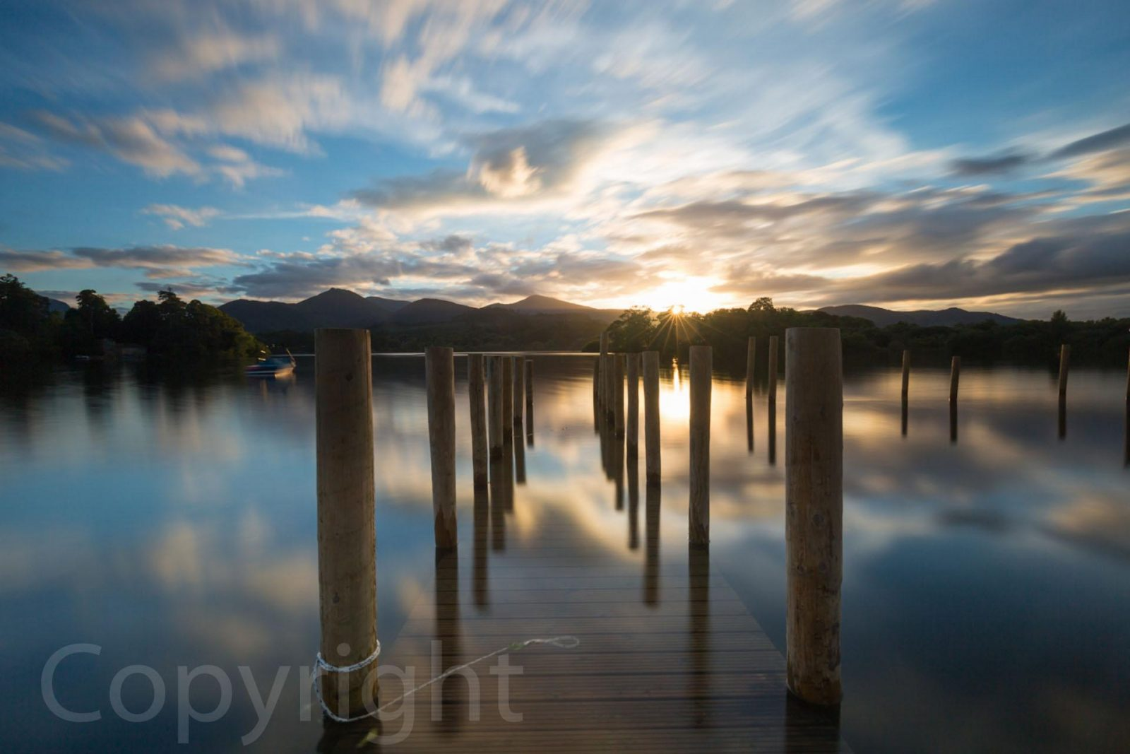 Mike Morley's photo of Derwent Water Jetty, winner in the print category at Knaresborough Camera Club. Story of the competition judging on Falcondale Life blog.