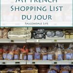 My French Shopping List du Jour on Falcondale Life blog. Supermarket shelves