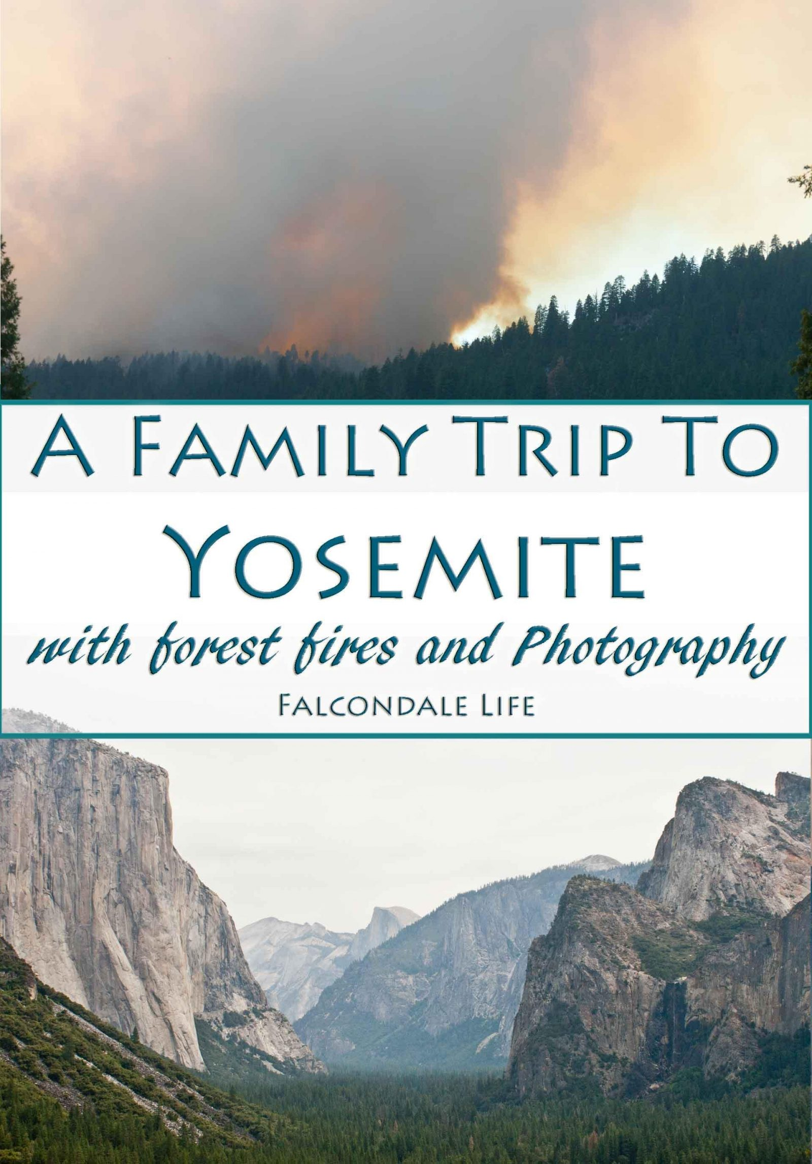 A Family Trip to Yosemite with Forest Fires and Photography on Falcondale Life Blog. Smoke from Big Meadow Fire 2009. Our family trip to Yosemite coincided with the Big Meadow Fire of 2009. Smoke and a broken camera made photography difficult, and we had British reserve too which added to our photography woes. But the children enjoyed it! Read more on the blog.
