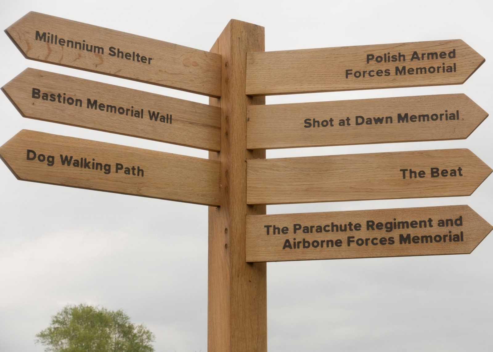Discovering the National Memorial Arboretum with Kids on Falcondale Life blog. A day out in this sculpture park with visitor facilities including a playground and a review of the restaurant. Visitor information for families. Signpost.