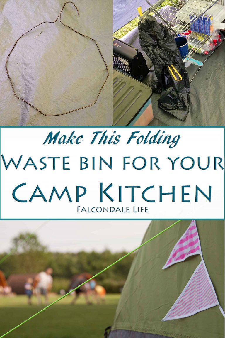 Make This Simple Folding Waste Bin For Your Camp Kitchen