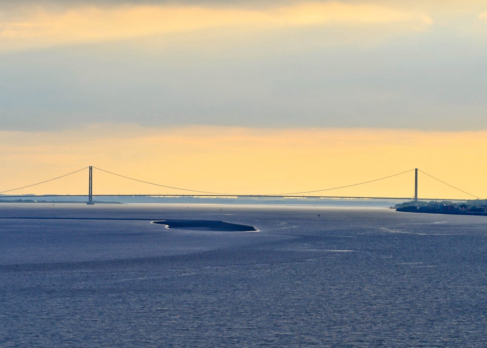 Driving routes to France from the UK - Your options on Falcondale Life Blog. The Humber Bridge viewed from the ferry.