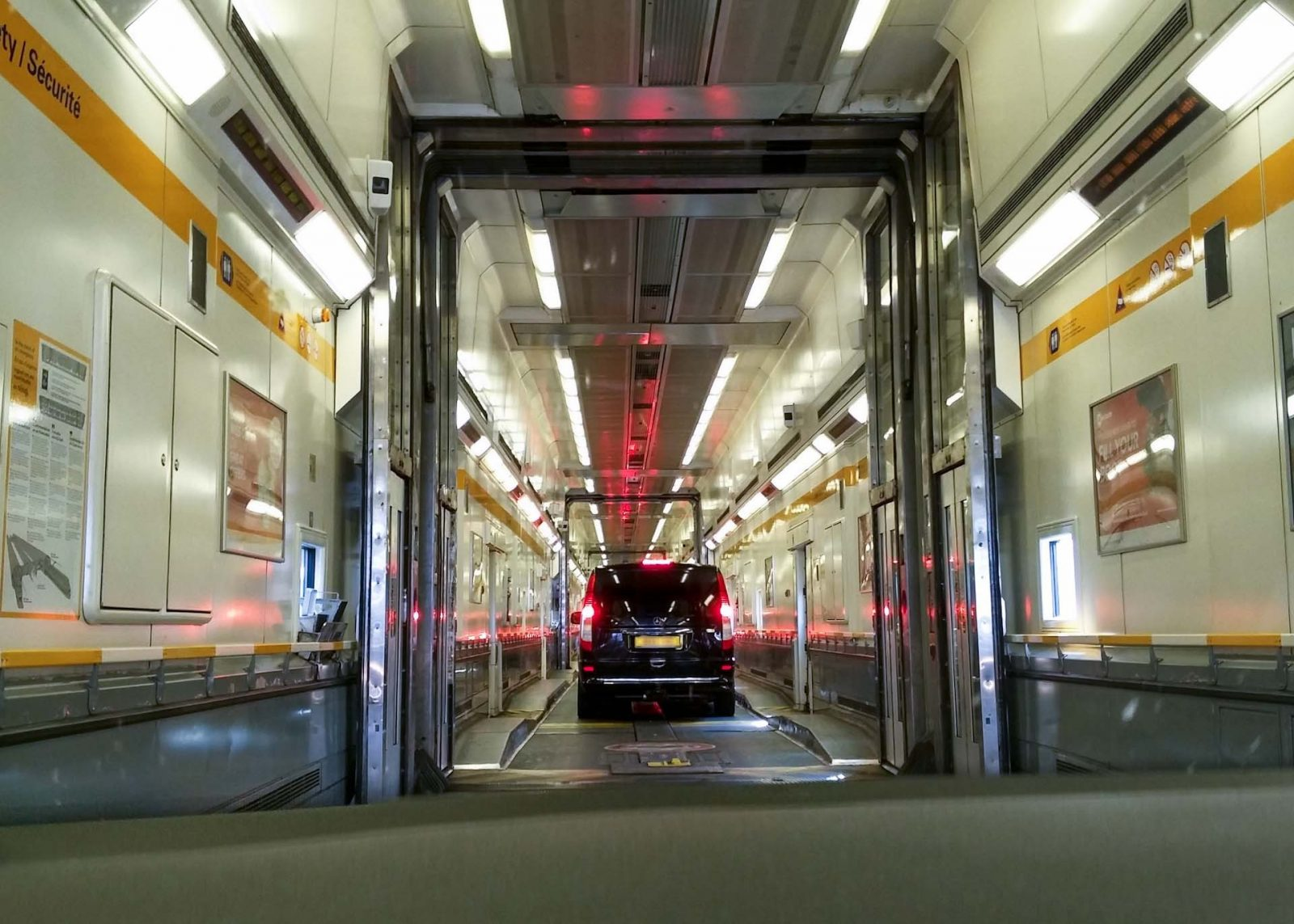 Driving routes to France from the UK - Your options on Falcondale Life Blog. Inside the Eurotunnel train.