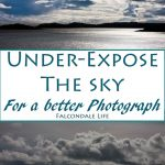Under-expose the sky for a better photograph on Falcondale Life blog. Photography tips for high contrast conditions. How to get round the problem of shooting in very bright conditions and why it matters how your digital camera records light in each pixel.