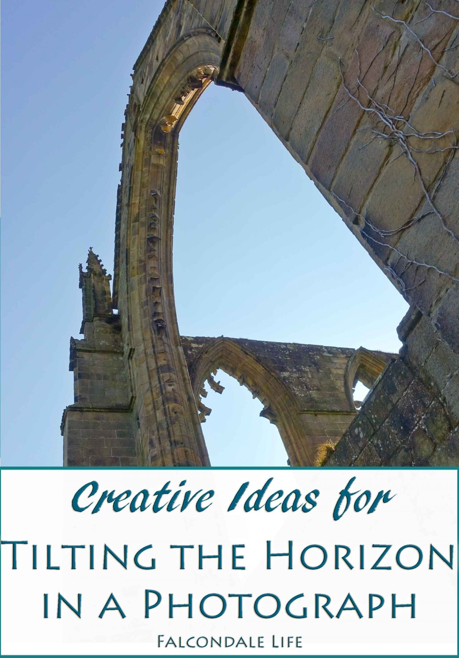 Creative Ideas for Tilting the Horizon in a Photograph on Falcondale Life Blog. Sometimes our horizons are wonky by accident but what if you deliberately tilt your image to get an interesting new effect? Bolton Abbey.