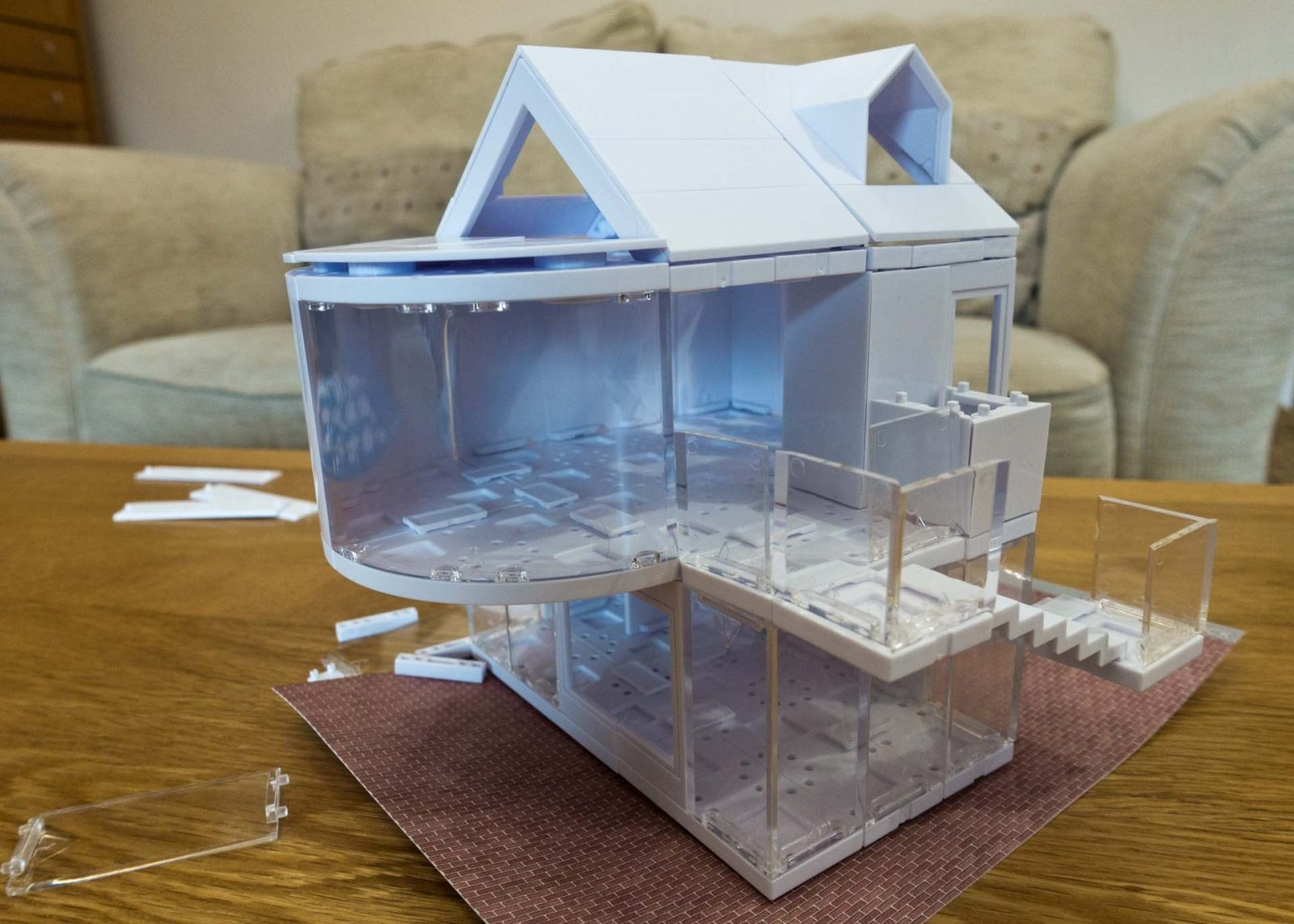 Arckit Architectural Model Building Kit - Review and Kickstarter on Falcondale Life blog. Play at building and create ideas like an architect. Model house designs. No glue or mess, perfect for older children. New product ranges via Kickstarter.