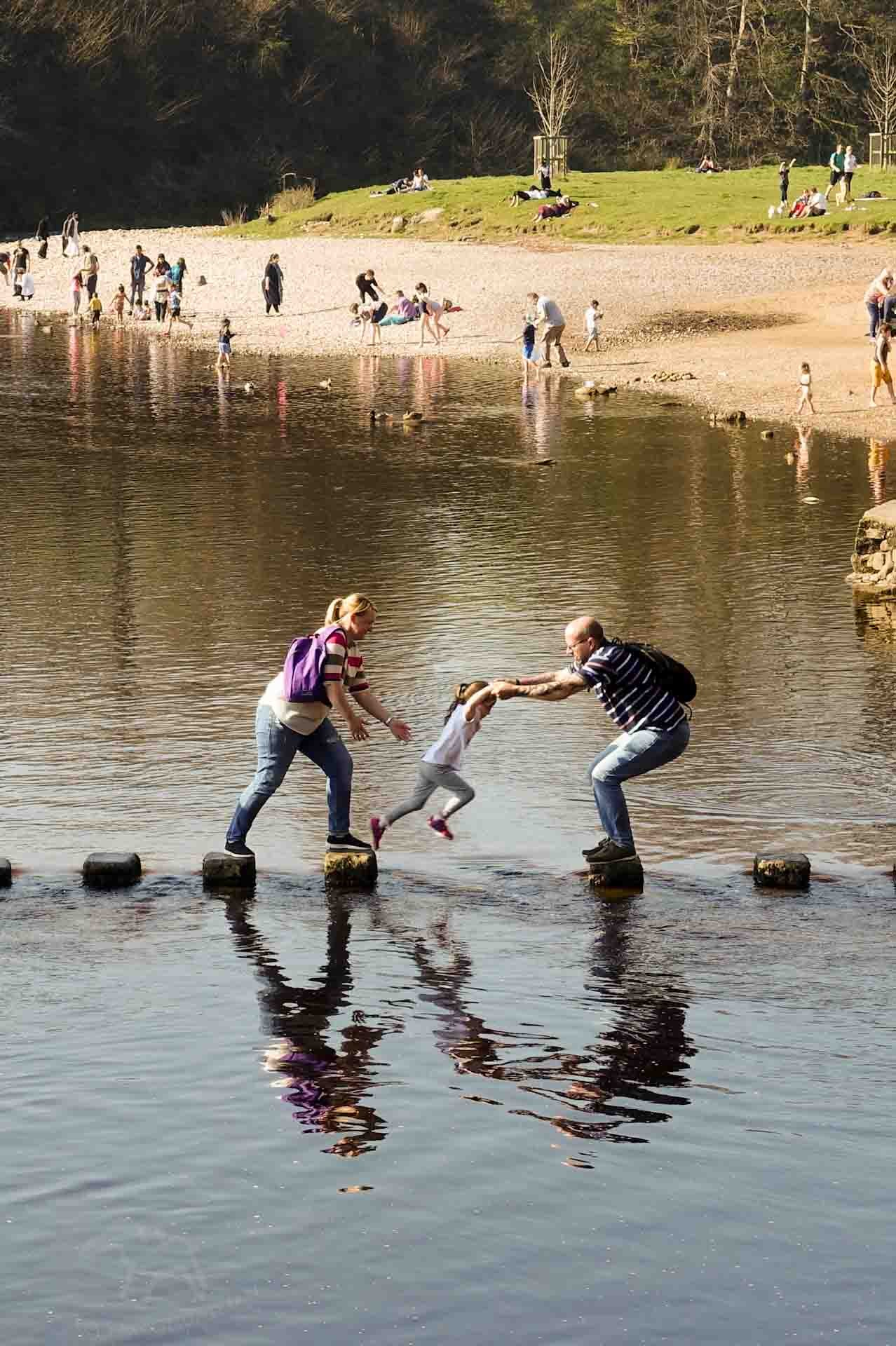 Tips for Cropping Photos for the Best Effect on Falcondale Life blog. Cropping a photograph to find the stand-out image within the original photo. Become a better photographer with these editing tips on finding the best crop. Stepping stones on the Wharf at Bolton Abbey.