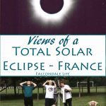 Watching and photographing a total solar eclipse in France 1999. The practical and emotional experience of seeing totality on a holiday with friends.