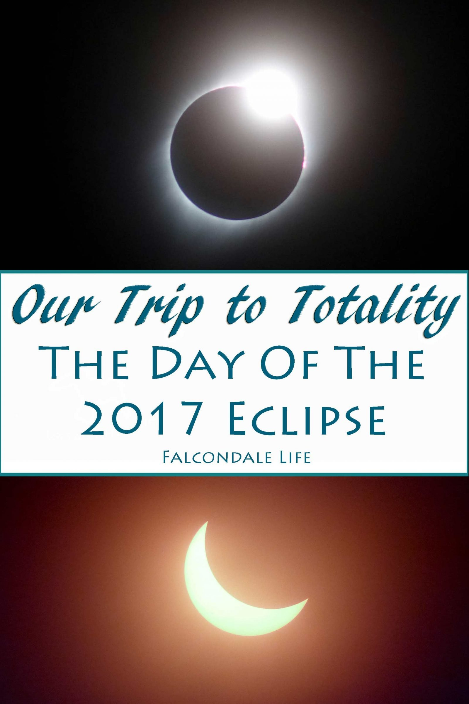 Story and photos of our family trip to see totality of the 2017 solar eclipse, Nebraska USA. How we did vacation planning, eclipse chasing and camera setup. Diamond ring solar eclipse phase.