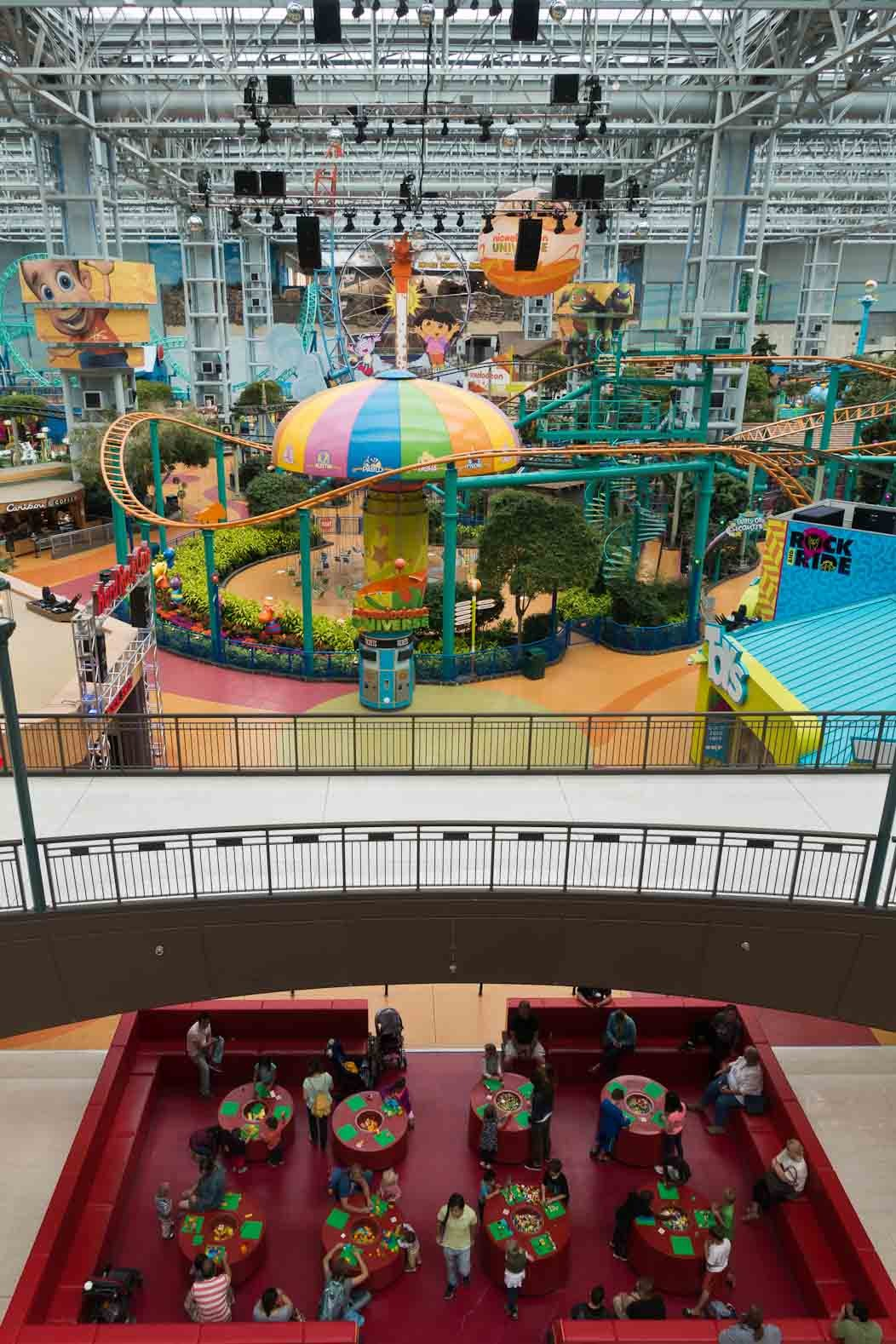 Mall of America, Minneapolis: Destination Thrill on FalcondaleLife blog. The biggest shopping mall in America also has a theme park and many other thrilling attractions to make it a tourist destination in its own right. Nickelodeon Universe theme park and Lego play area.
