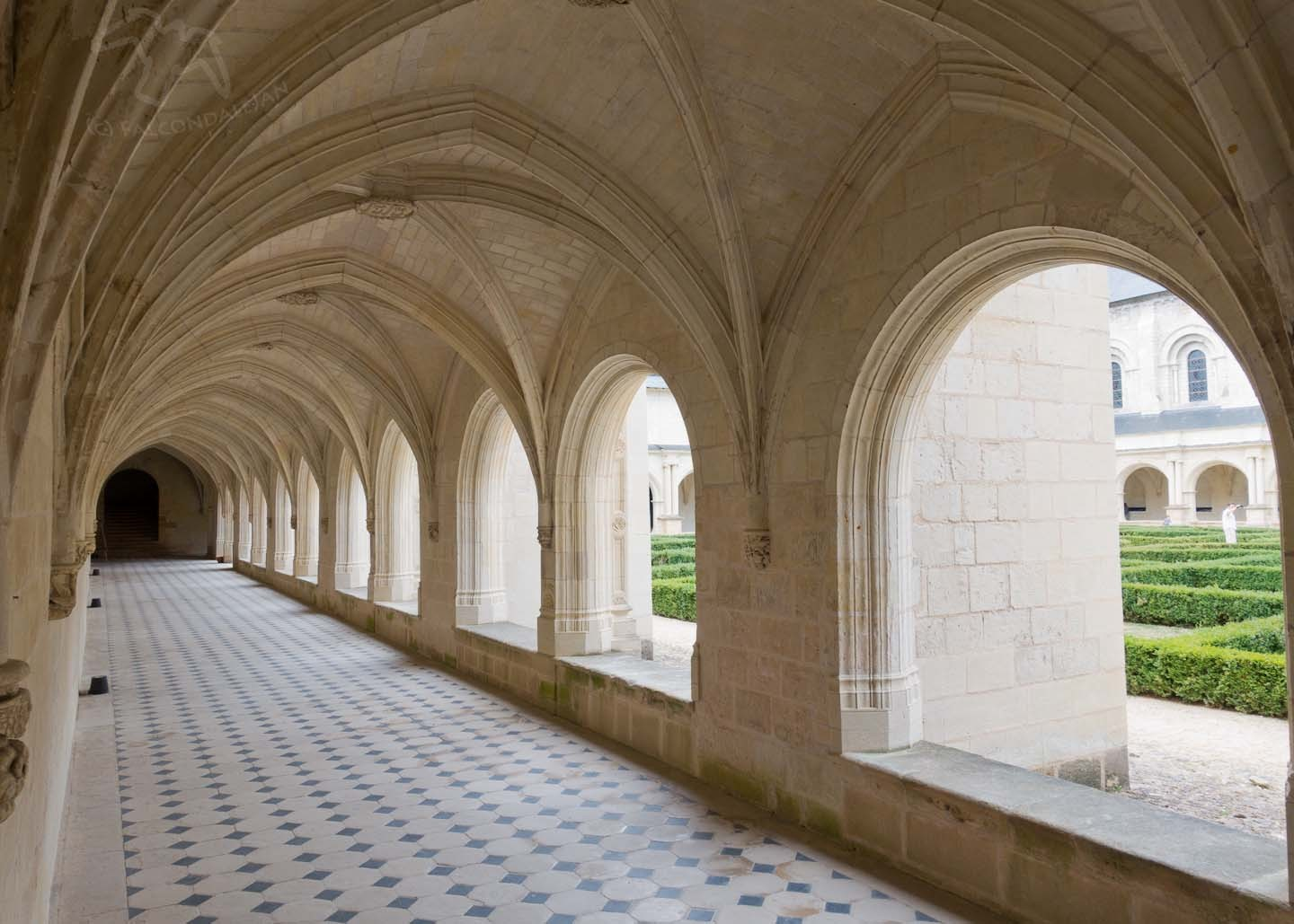 Fontevraud Abbey in the Loire Valley - Restoration Pictured on Falcondale Life blog. This French abbey isn't an ancient ruin but has been kept in use over the centuries. Unsympathetic restoration? Plantagenet burials and photography tips.