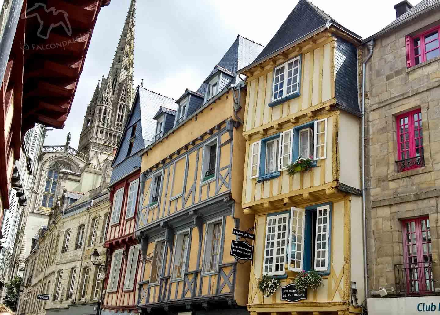 Pic of the week - Quimper old town on Falcondale Life blog. Charming Breton city with half-timbered buildings and cobbled streets. Linking with #MySundayPhoto