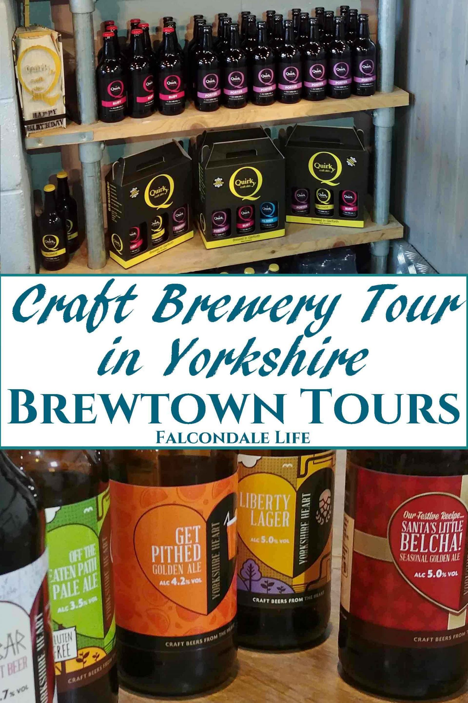 Craft Brewery Tour in Yorkshire with Brewtown Tours - Review on Falcondale Life blog. I was invited to test out a chauffeur-driven craft brewery tour in Yorkshire by Brewtown Tours with visits to Yorkshire Heart, Quirky Ales and Northern Monk. Such a big range of beers to try with flavours to tempt both new and experienced beer drinkers, I never had an empty glass. Bottled beers for sale at local breweries,