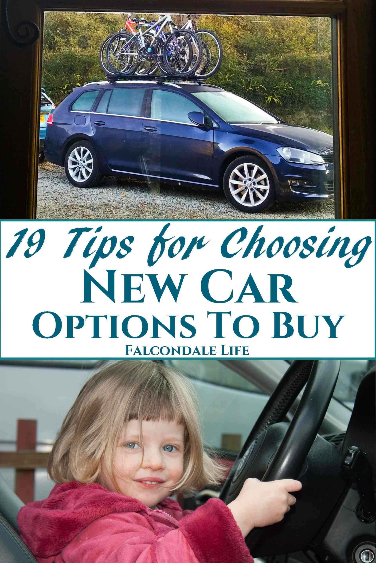 Pin this for later. 19 Tips for Choosing New Car Options on Falcondale Life blog. #carscom #ad Tips on choosing car options when buying new. We've lived with the options on our car for a while so here is my guide to selecting new car options by Falcondalejan. Spend right, stay safe, get comfy. Don't let the dealer confuse you.