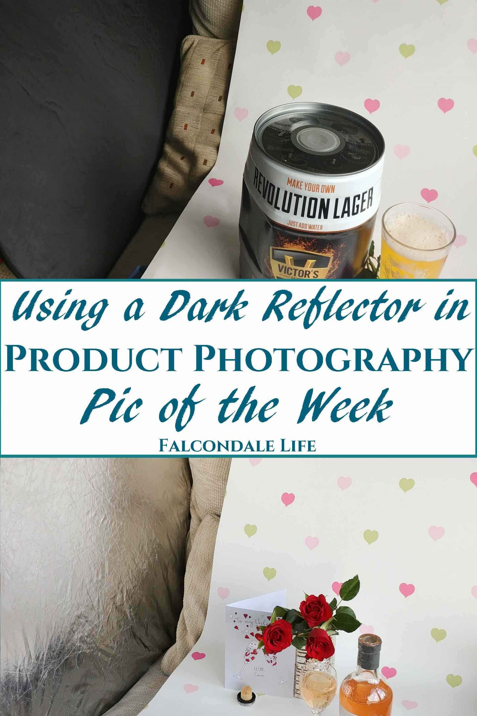 Using a dark reflector in product photography - Pic of the week on Falcondale Life blog. A five way reflector is useful for photography by increasing the light in each setup. Find out how to use the dark side of a photography reflector and recommended uses for each side of the circular reflector. Photography tips with FalcondaleJan.