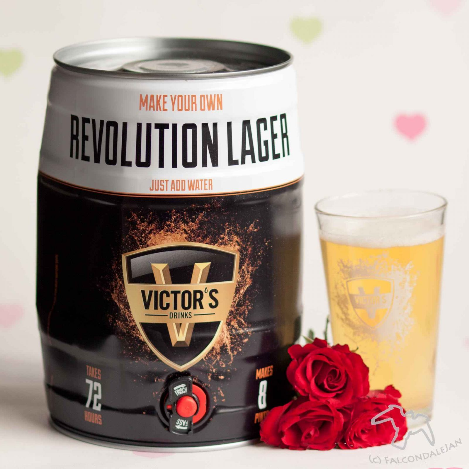 Revolution lager making kit from Find me a gift with a pint of lager, roses and hearts. Boozy Valentine's Gift Guide and Drinks Review on Falcondale Life blog. Unusual alcohol and gifts for drinkers on Valentine's day. Get something for him or her which is more interesting that just chocolate and wine. On test: Liqueurs, whisky, brewing kit, drinking game. Boozy gifts reviewed by FalcondaleJan.
