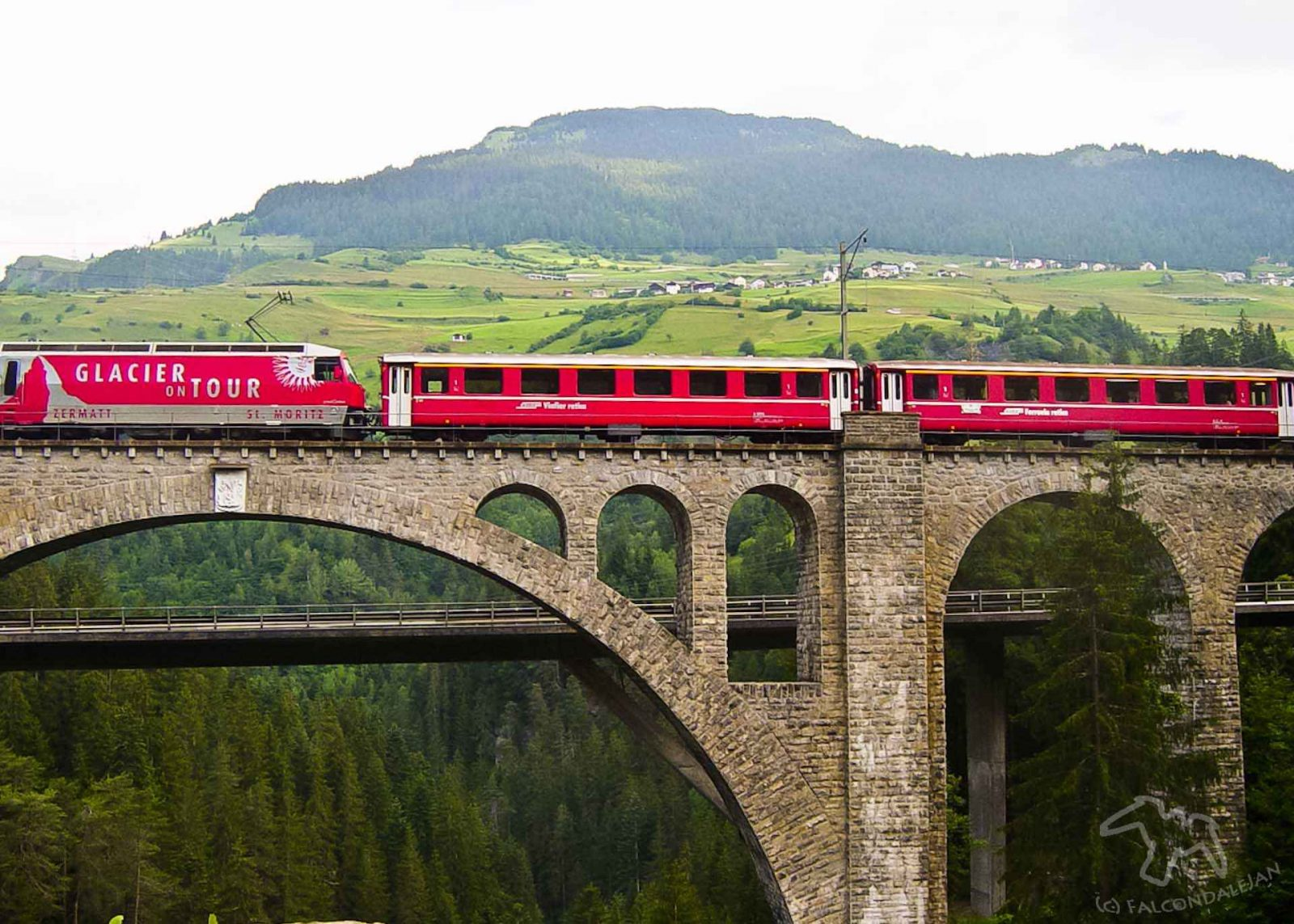 Glacier express on a Swiss Viaduct. The Five Best things about a scenic Swiss Rail Journey on Falcondale Life blog. Image credit David T. The beauty of a Swiss Rail Journey taken as a self guided tour is the perfect holiday for a rail enthusiast or anyone who enjoys stunning views of the Alps. Panoramic trains with breathtaking views of the Eiger and Jungfrau can be followed with a trip on the lake in a country full of cuckoo clock charm.