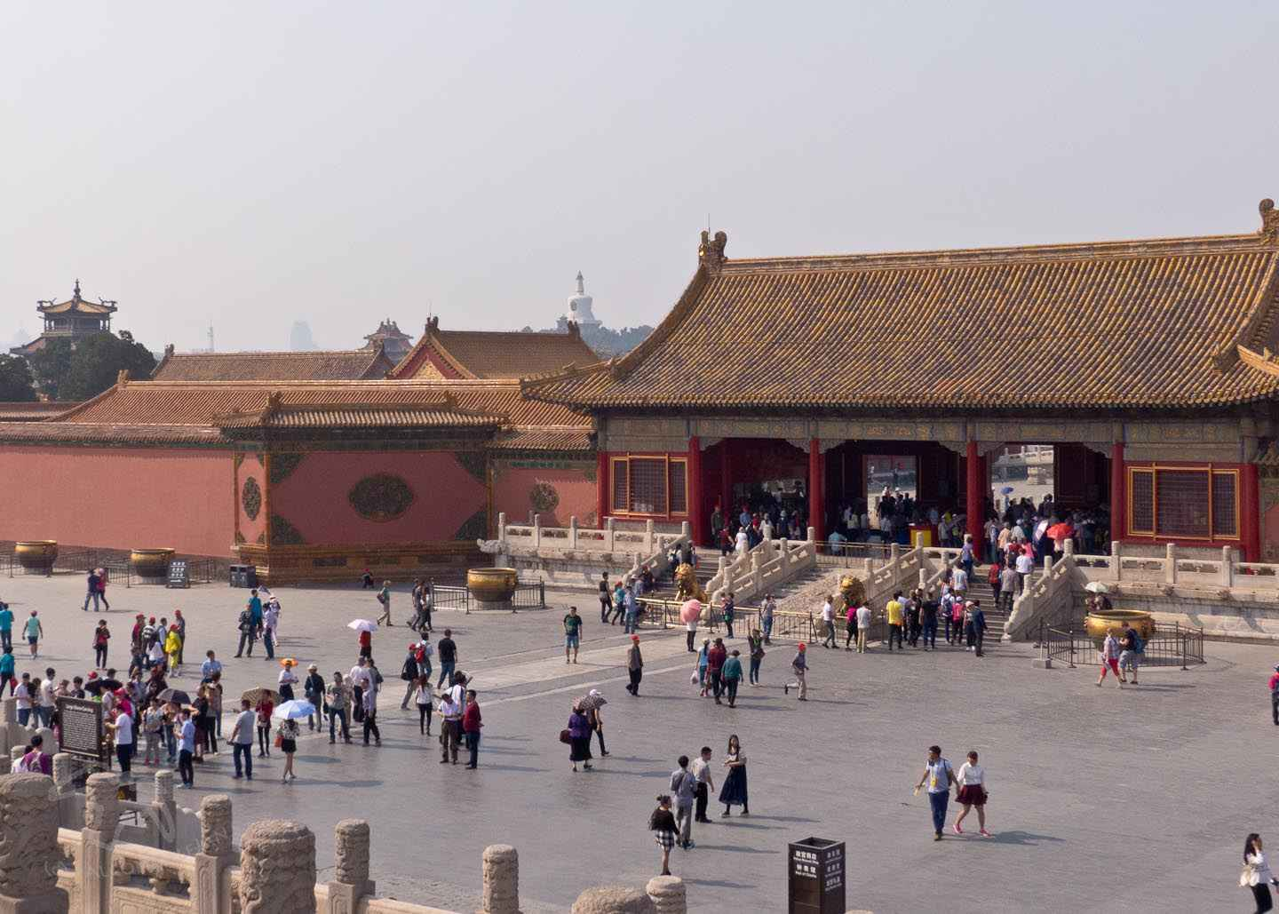 How to spend a day off from business travel in China, what can you fit in to one day in Beijing? Ideas to visit the sights, attractions and experiences with tips to take better photographs. Visit the Forbidden City. You may leave the city with a wish to come back for a proper holiday. Image description: The Forbidden City