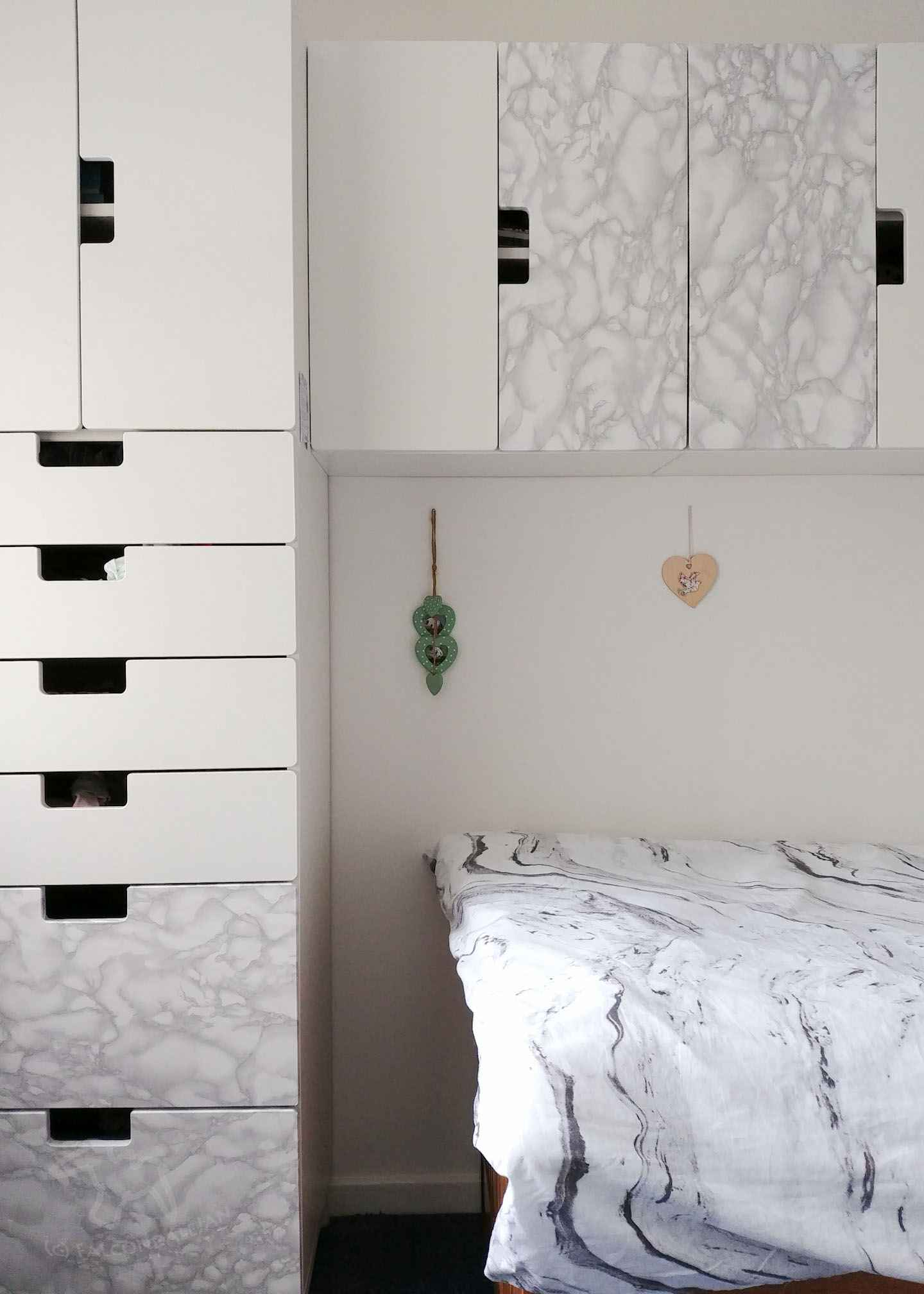 Teenager S Bedroom Makeover With Grey Marble And Copper