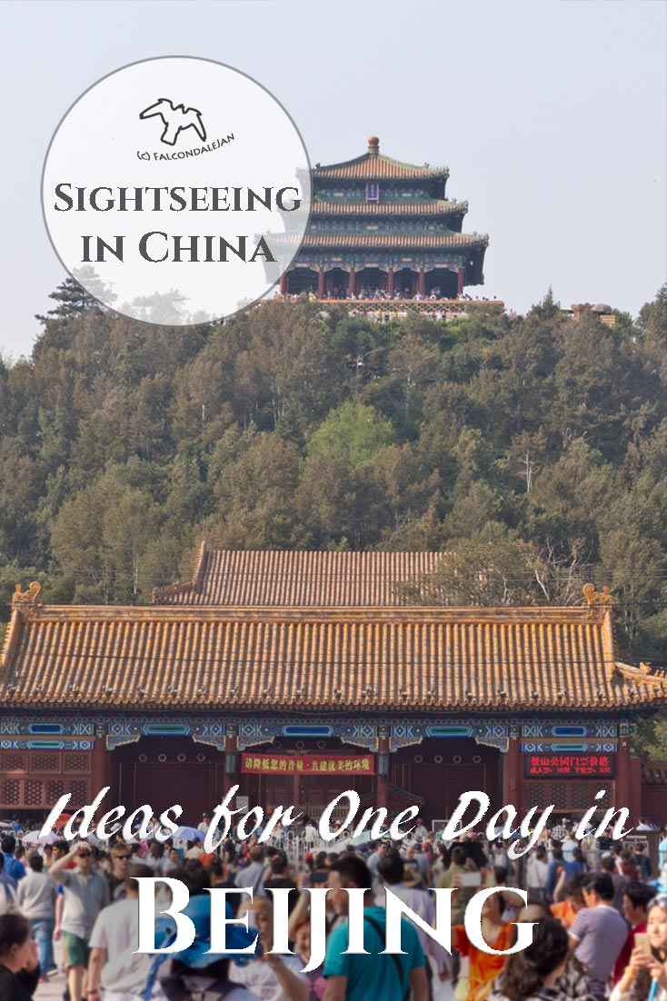How to spend a day off from business travel in China, what can you fit in to one day in Beijing? Ideas to visit the sights, attractions and experiences with tips to take better photographs. Visit the Forbidden City. You may leave the city with a wish to come back for a proper holiday. Image description: Jingshan Gardens.