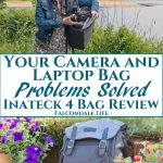 Safely carry your cameras, gadgets and lots more in these Inateck laptop bags. Review which is the best camera backpack, business and laptop bag and sleeve. Your camera and laptop bag problems solved with Inateck – Full 4-bag review on Falcondale Life blog. Image description: Falcondalejan with Inateck antishock dslr camera backpack and blog title.
