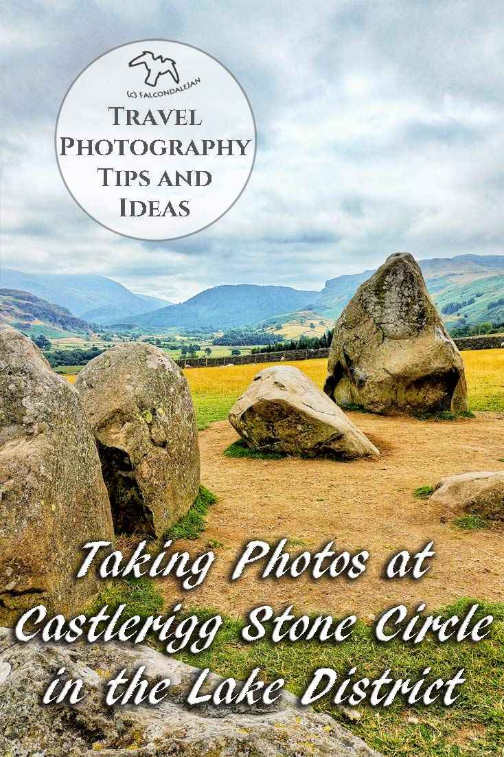 I only had my phone and 15 minutes, so how did I get some nice photos of Castlerigg Stone Circle in the Lake District? Photography tips and visitor info. Taking photos at Castlerigg Stone Circle in the Lake District on Falcondale Life blog. Image description: part of Castlerigg in the Lakes and blog title. More in travel photography tips and ideas.