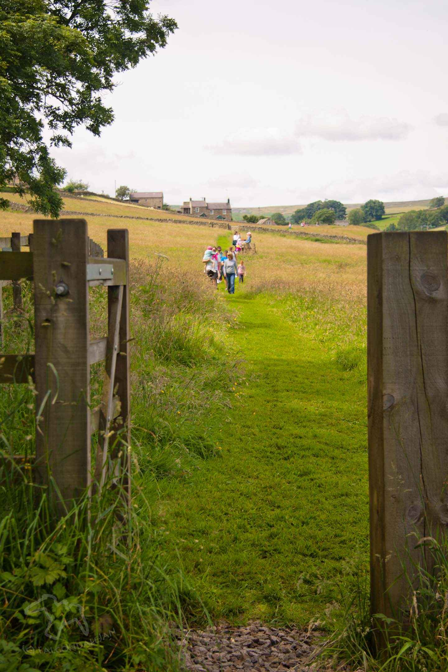 Ideas and tips for a vacation that's suitable for sensitive people. Where could we take an anxious teenager or child on holiday? Plan calmer family travel. Image description: grassy path through summer fields, Yorkshire.